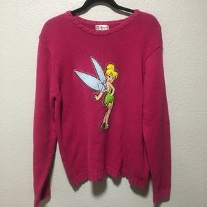 Disney Store Pink Tinkerbell Sweater Pullover